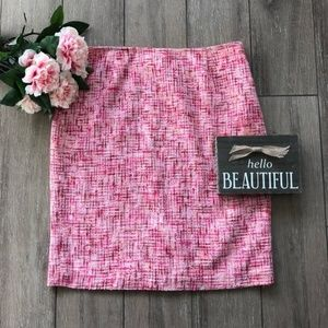 Cynthia Steffe Pencil Skirt Pink Tweed Size 10